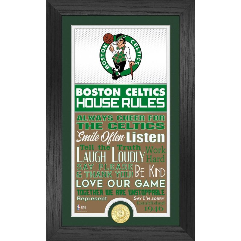 Officially Licensed Boston Celtics House Rules Bronze Coin Photo Mint