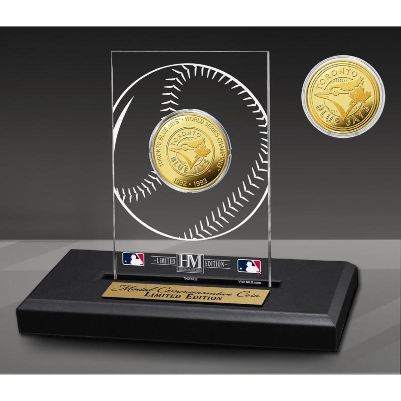 Officially Licensed MLB 2-Time Champions Acrylic Gold Coin - Blue Jays