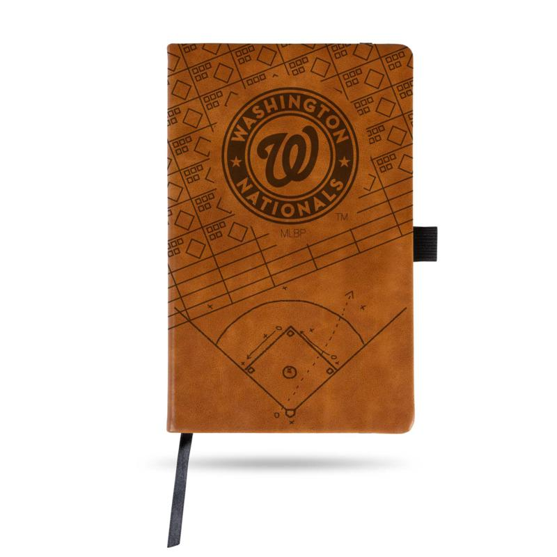 Officially Licensed MLB Brown Notepad - Washington Nationals