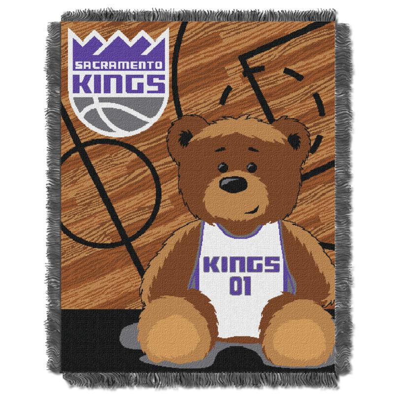 """Officially Licensed NBA Kings """"Half-Court"""" Baby Woven Jacquard Throw"""