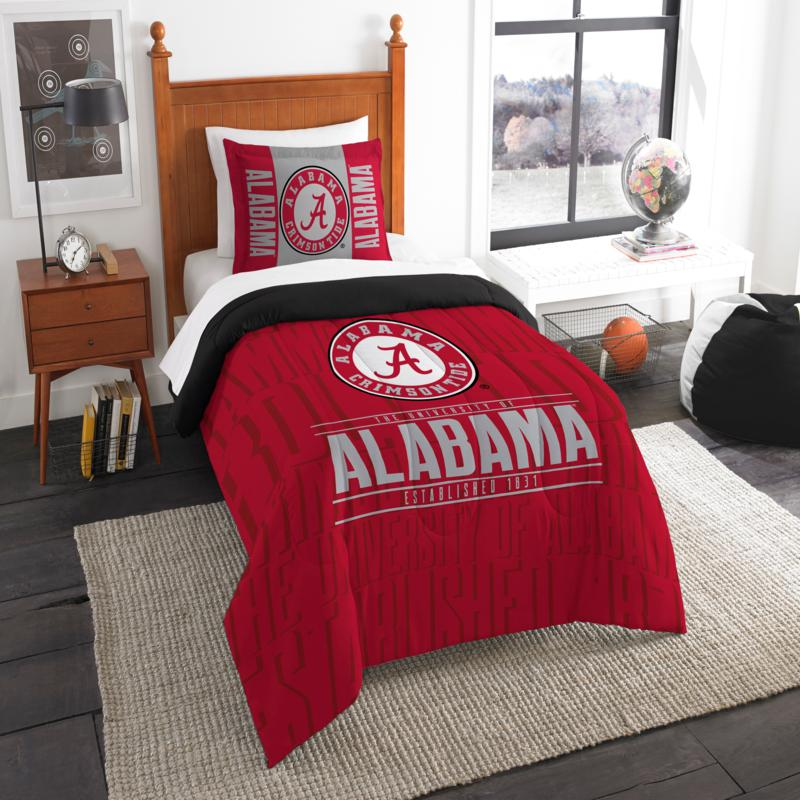Officially Licensed NCAA Modern Take Twin Comforter Set - Alabama