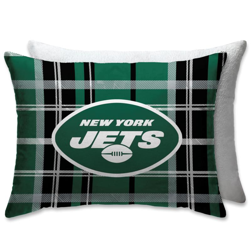 """Officially Licensed NFL 20"""" x 26"""" Plush Bed Pillow - New York Jets"""