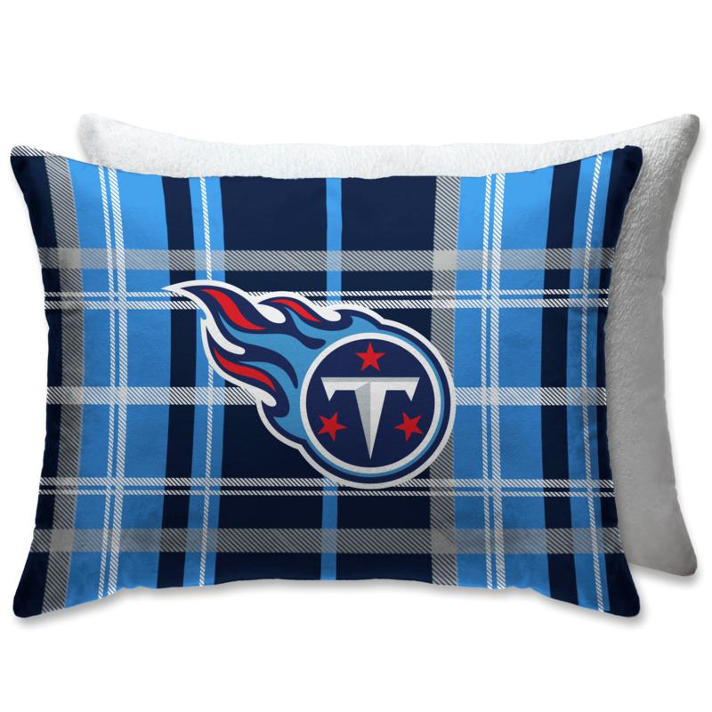 """Officially Licensed NFL 20"""" x 26"""" Plush Bed Pillow - Tennessee Titans"""