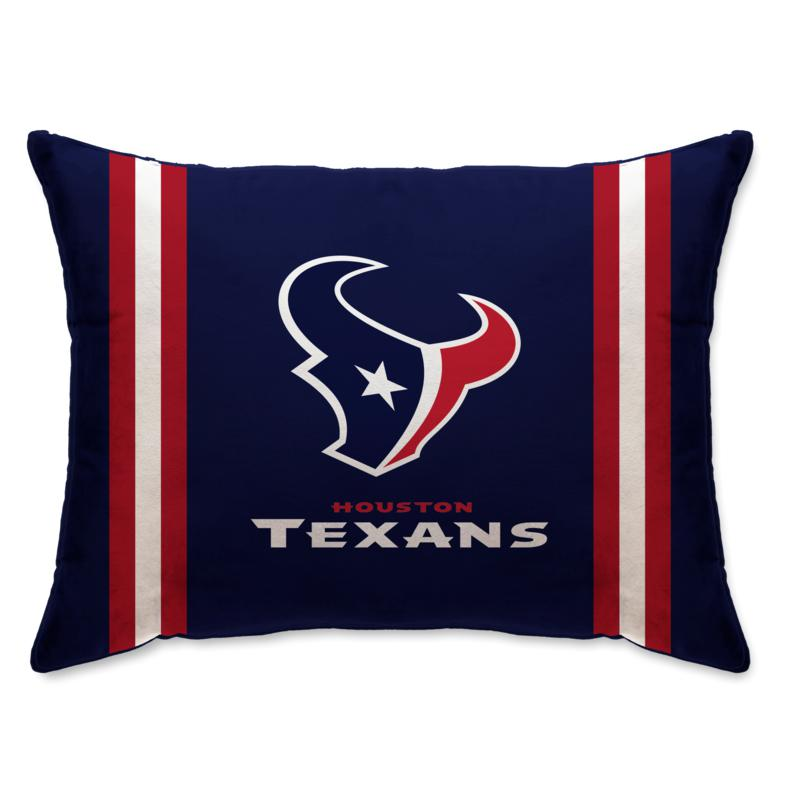 """Officially Licensed NFL 20"""" x 26"""" Plush Striped Bed Pillow - Texans"""