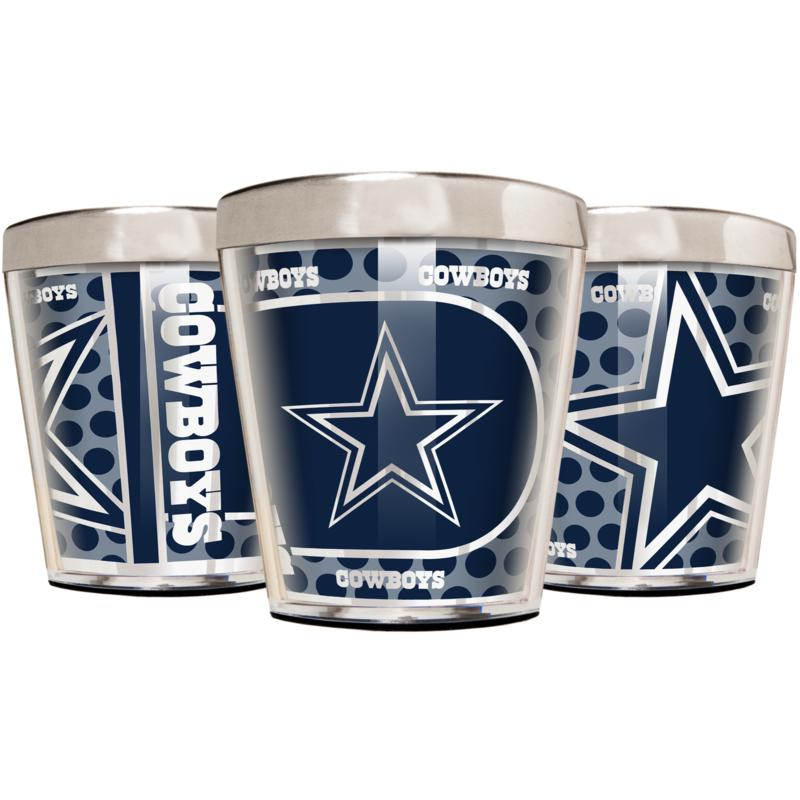 Officially Licensed NFL 3pc Shot Glass Set - Cowboys