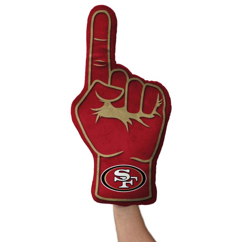 Officially Licensed NFL Foam Finger Plush Pillow - San Francisco 49ers