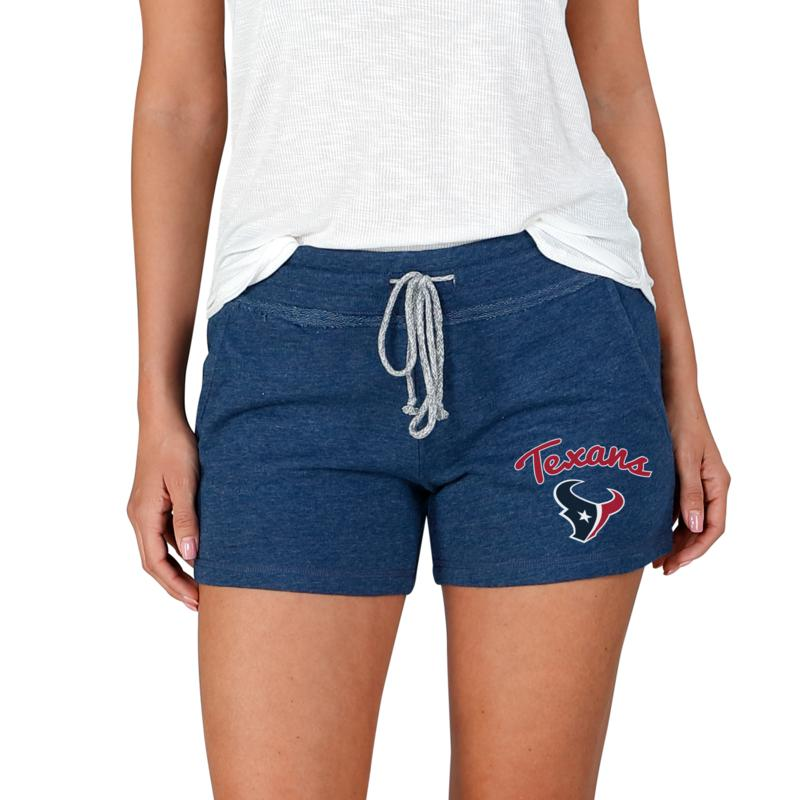 Officially Licensed NFL Mainstream Ladies Knit Shorts - Texans