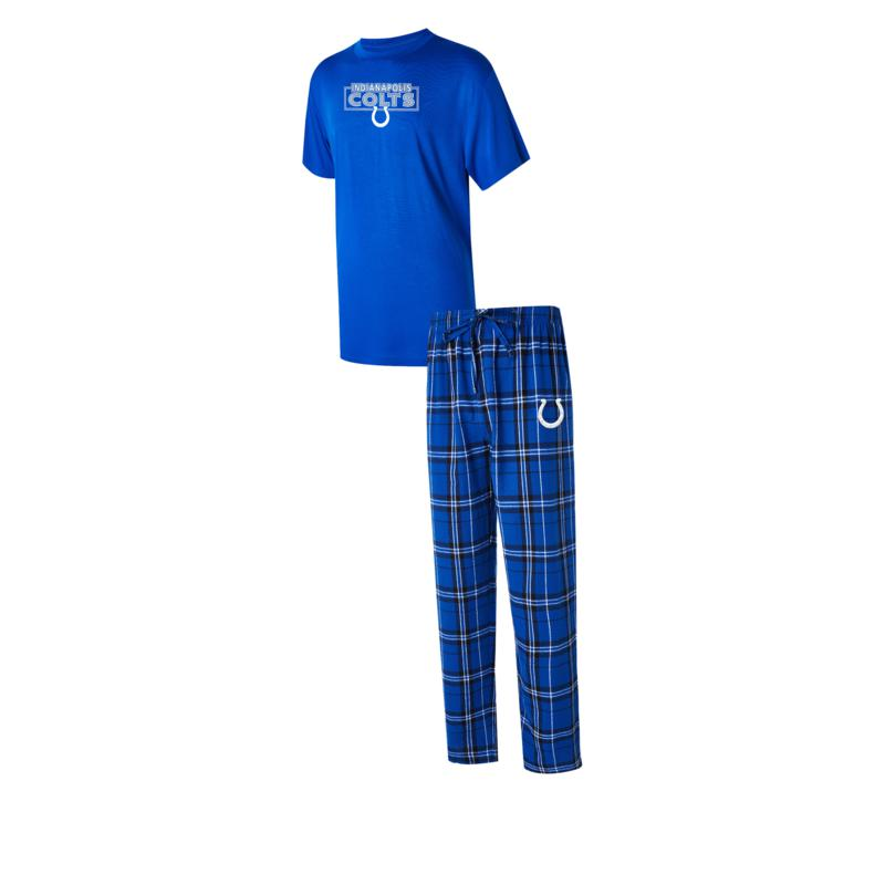 Officially Licensed NFL Men's Ethos Plaid Pajama Set by Concept Sports