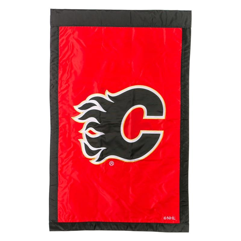 Officially Licensed NHL Applique House Flag - Calgary Flames