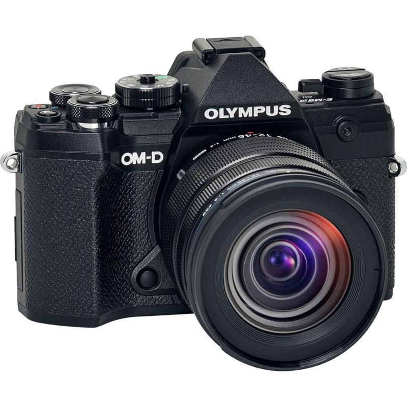 Olympus OM-D E-M5 Mark III Digital Camera with 12-45mm Lens - Black