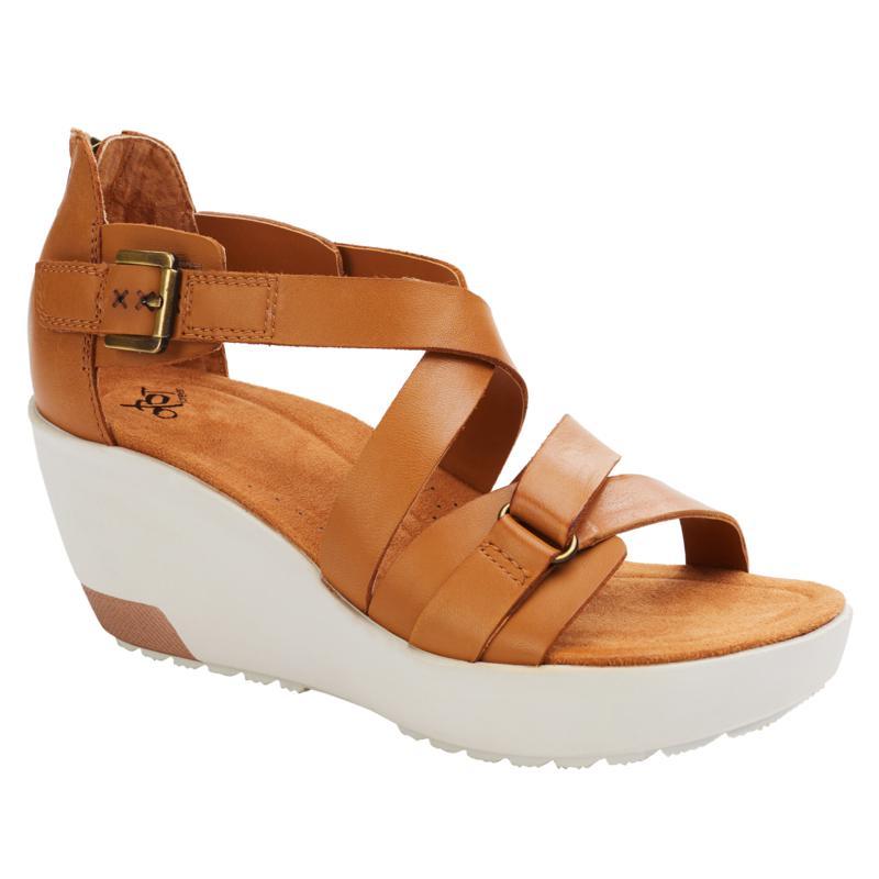 OTBT Travel Lite® Teresa Leather Wedge Sandal