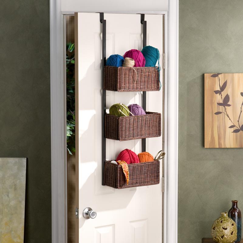 Over-The Door 3-Tier Basket Storage