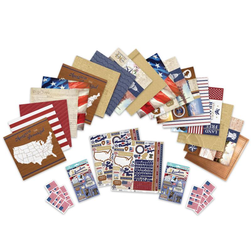 Paper House Let Freedom Ring Paper Crafting set