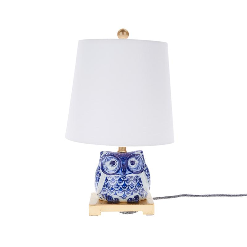 Patricia Altschul Owl Chinoiserie Table Lamp