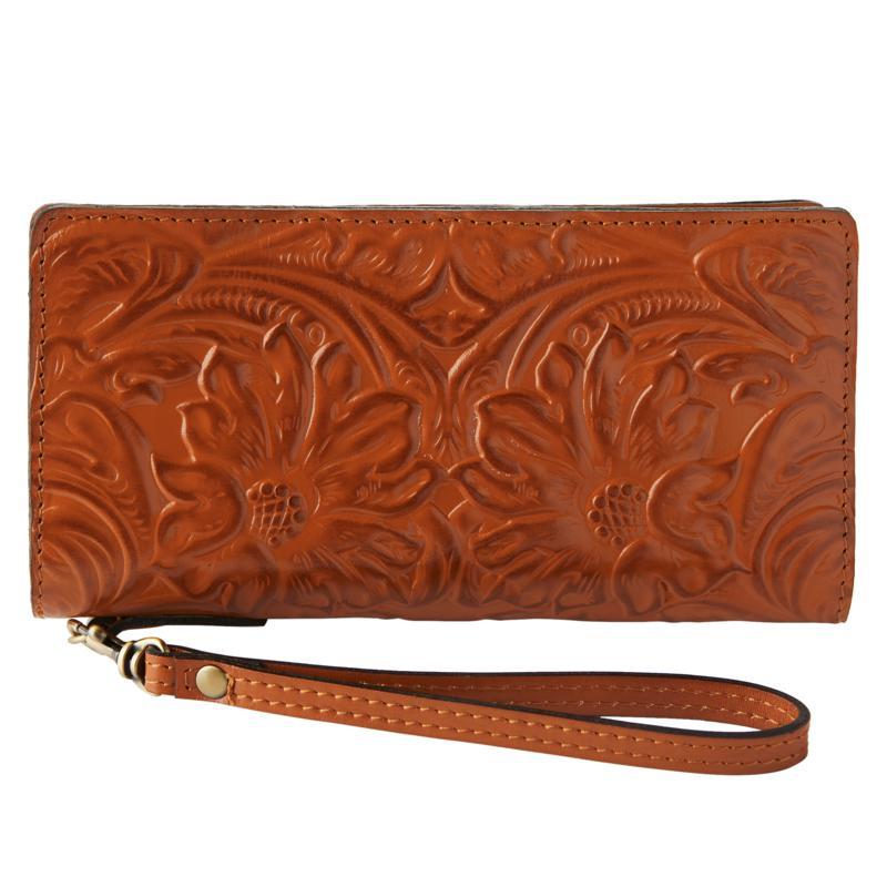 Patricia Nash Ghita Leather Zip Around Wallet