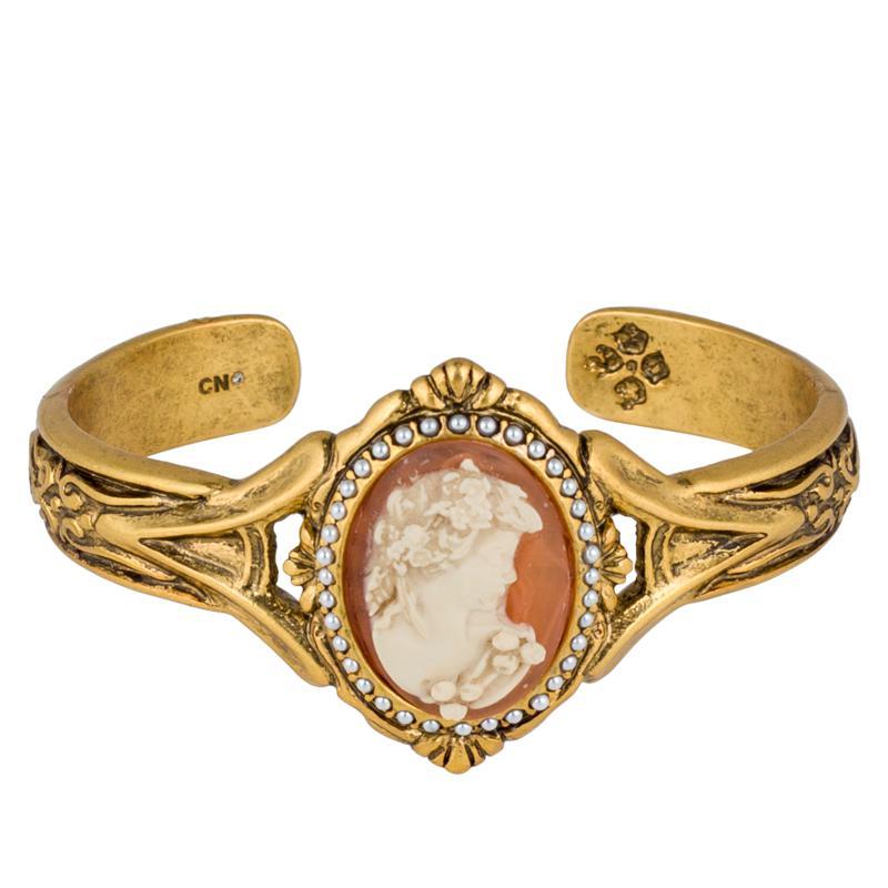 Patricia Nash Simulated Cameo Textured Cuff Bracelet