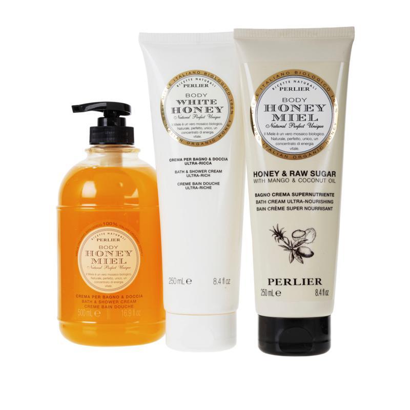 Perlier Honey Shower Cream 3-piece Set