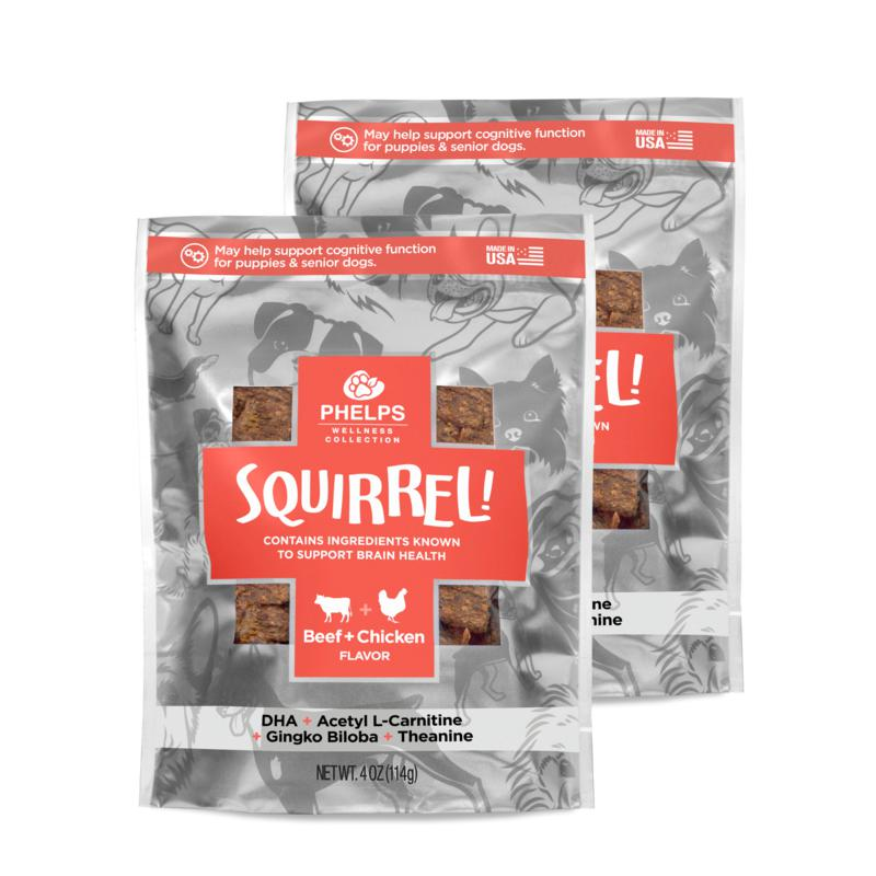 Phelps Wellness Collection  Squirrel Attention Focusing Beef & Chic...