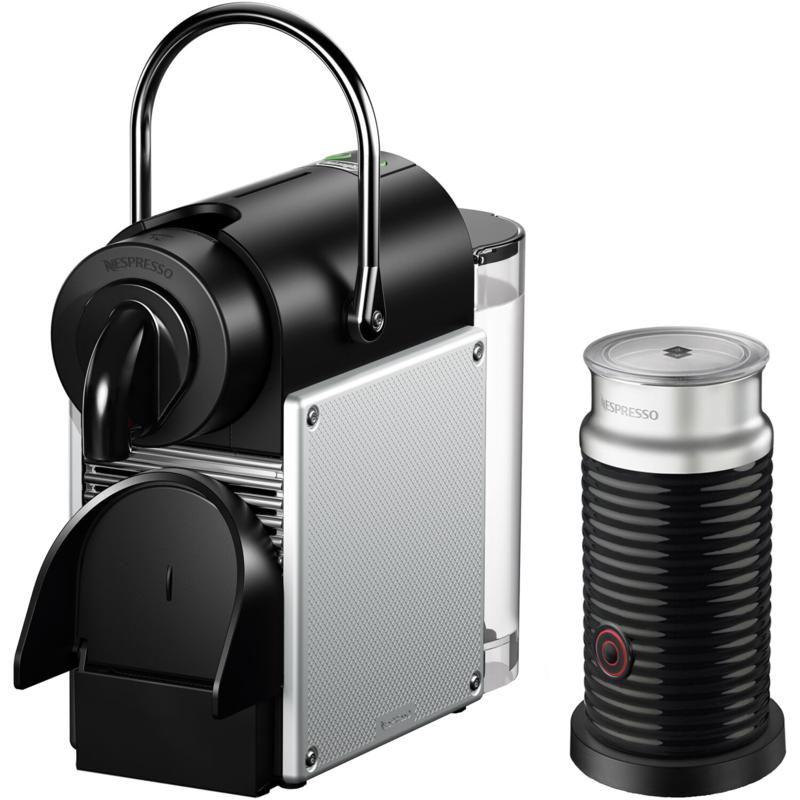 Pixie Single-Serve Espresso Machine & Aeroccino Milk Frother- Aluminum