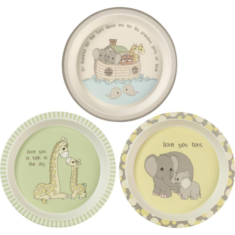 Precious Moments 3-Piece Bamboo Plate Set