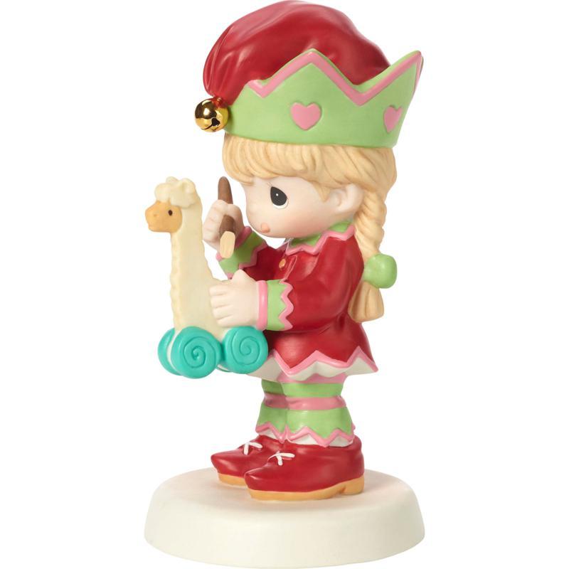 Precious Moments 4th Annual Elf Bisque Porcelain Figurine with Llama