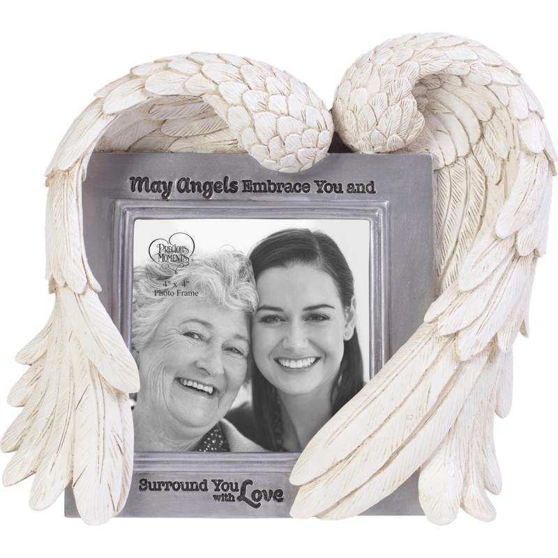 Precious Moments May Angels Embrace You Resin and Glass Photo Frame