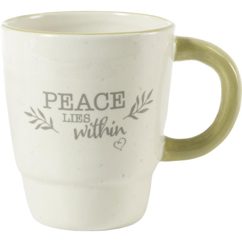 Precious Moments Peace Lies Within Ceramic Mug