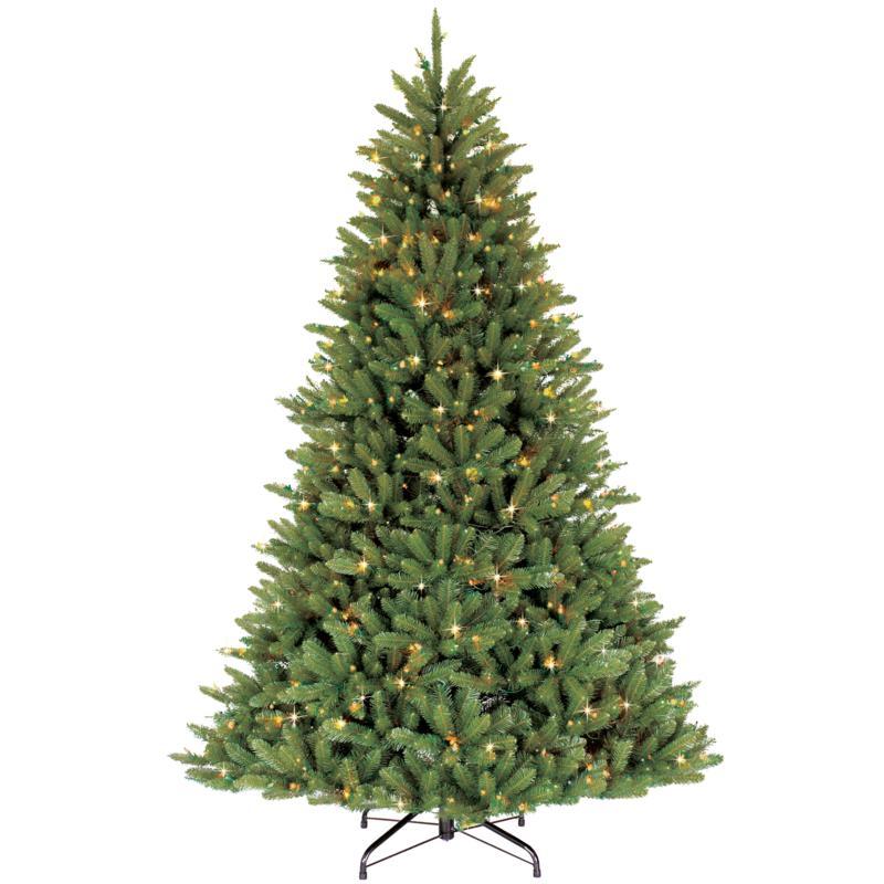 Puleo 10' Franklin Fir Artificial Christmas Tree w/1300 Clear Lights