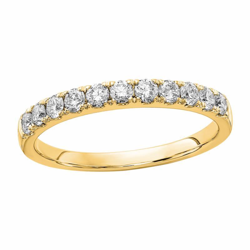 Radiant Fire 14K Gold .50ctw Lab-Grown Diamond Round  Wedding  Ring