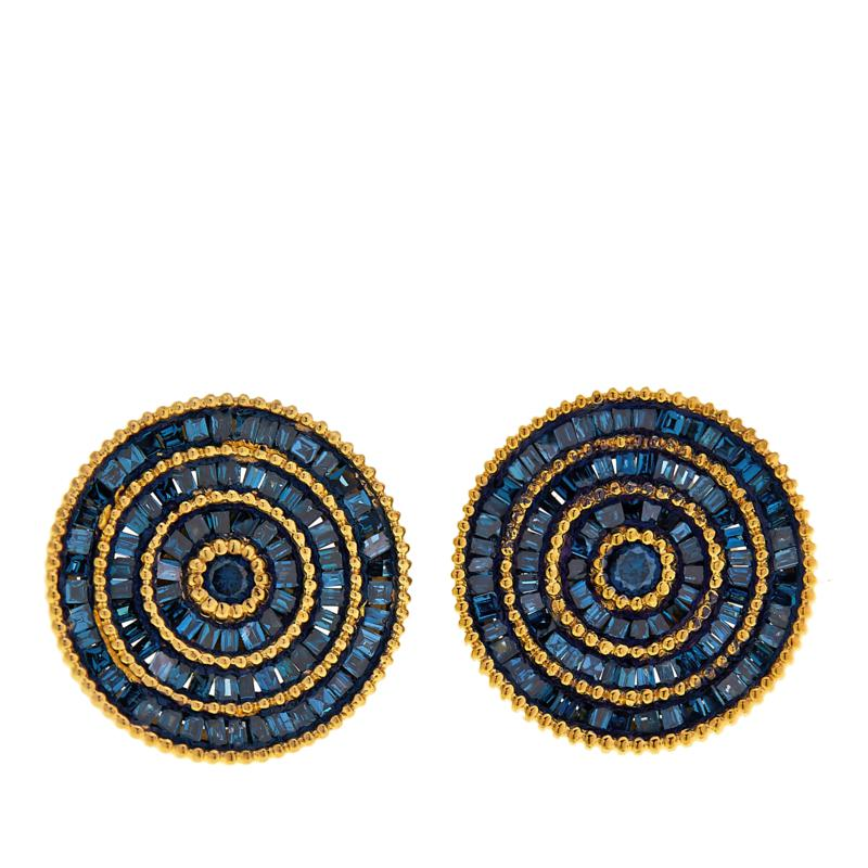 Rarities 0.6ctw Diamond Circle-Design Stud Earrings