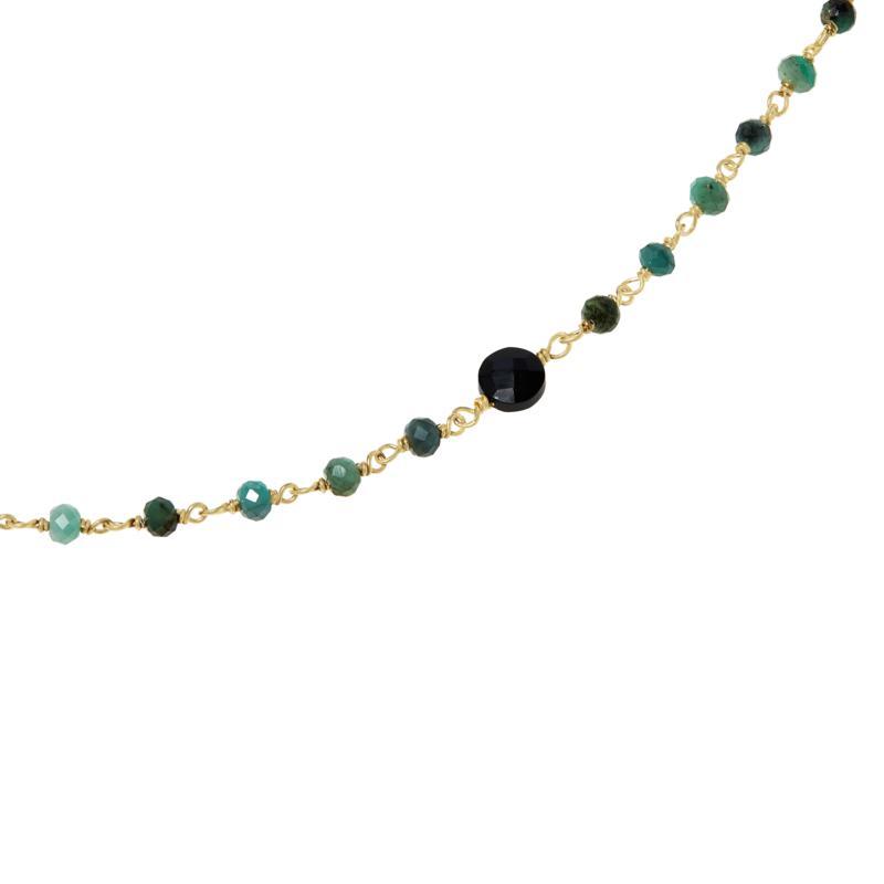 "Rarities 40"" Goldtone Sterling Silver Multi-Gemstone Beaded Necklace"
