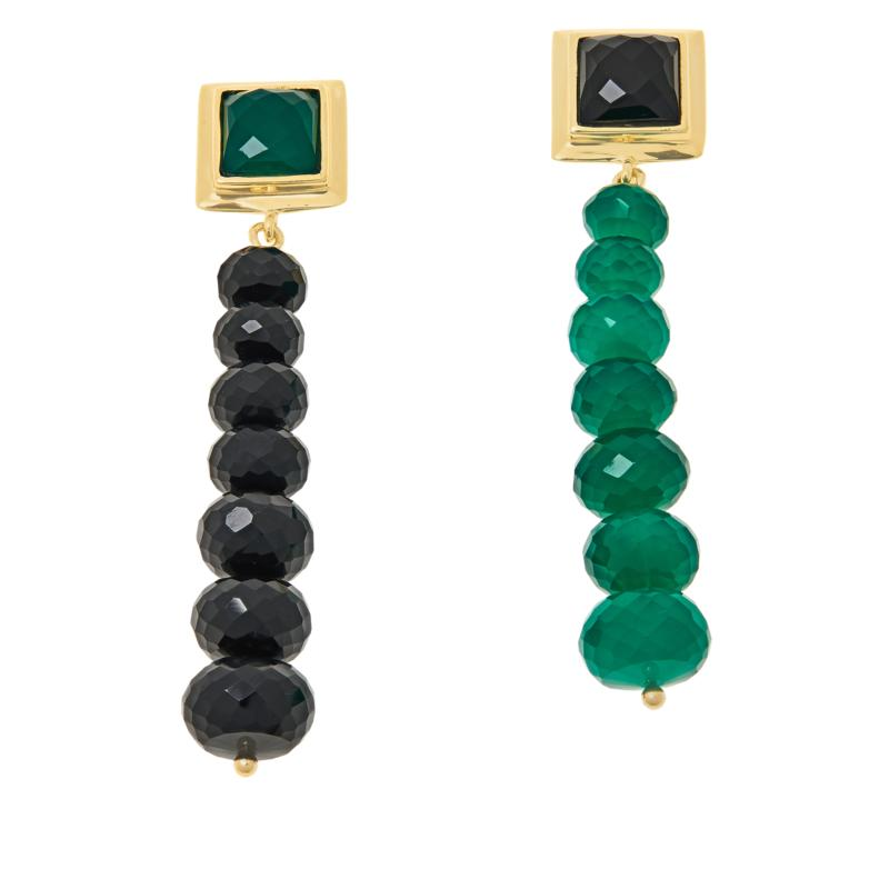Rarities Gold-Plated Multigemstone Mismatched Drop Earrings