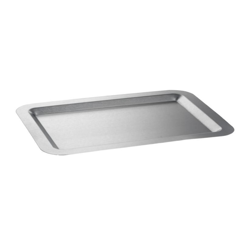 "Rectangular Stainless Steel Tray - 11"" x 16"""