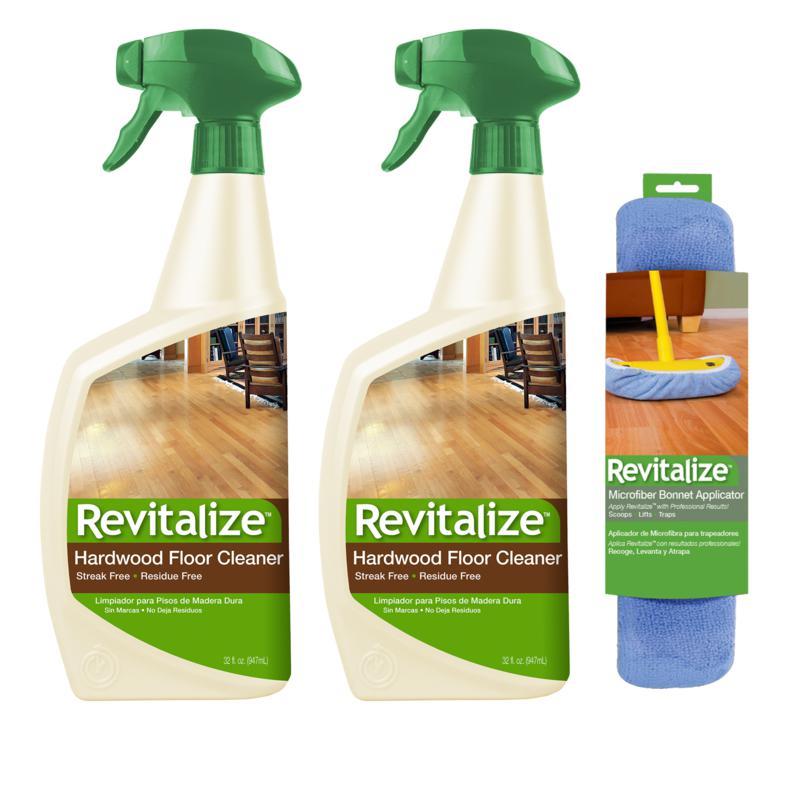 Revitalize 32 oz. Hardwood Floor Cleaner 2-pack with Bonnet