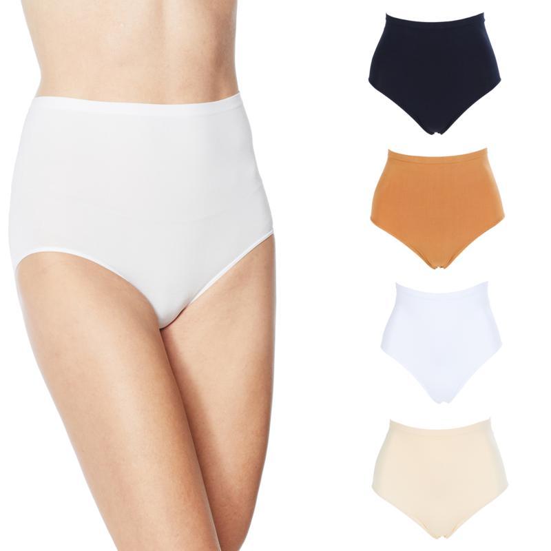 Rhonda Shear 4 Pack Seamless High Waist Ahh Brief Panties