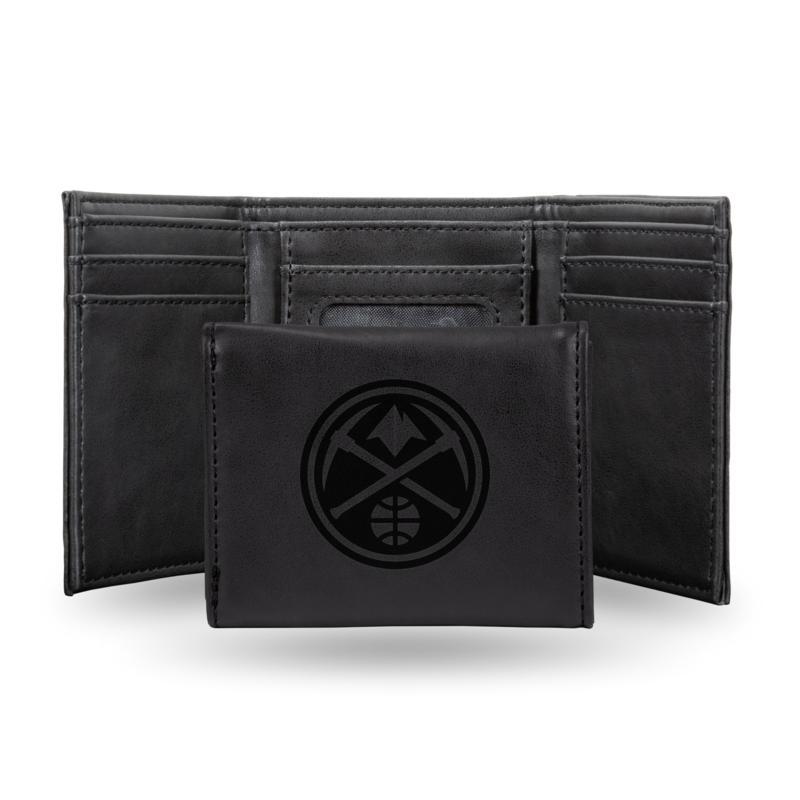 Rico Laser-Engraved Black Tri-fold Wallet - Nuggets