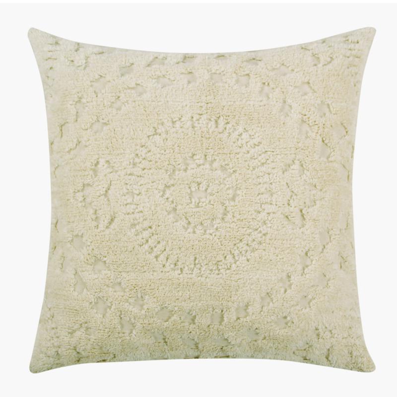 Rio Collection 100% Cotton Tufted Chenille Sham - Euro