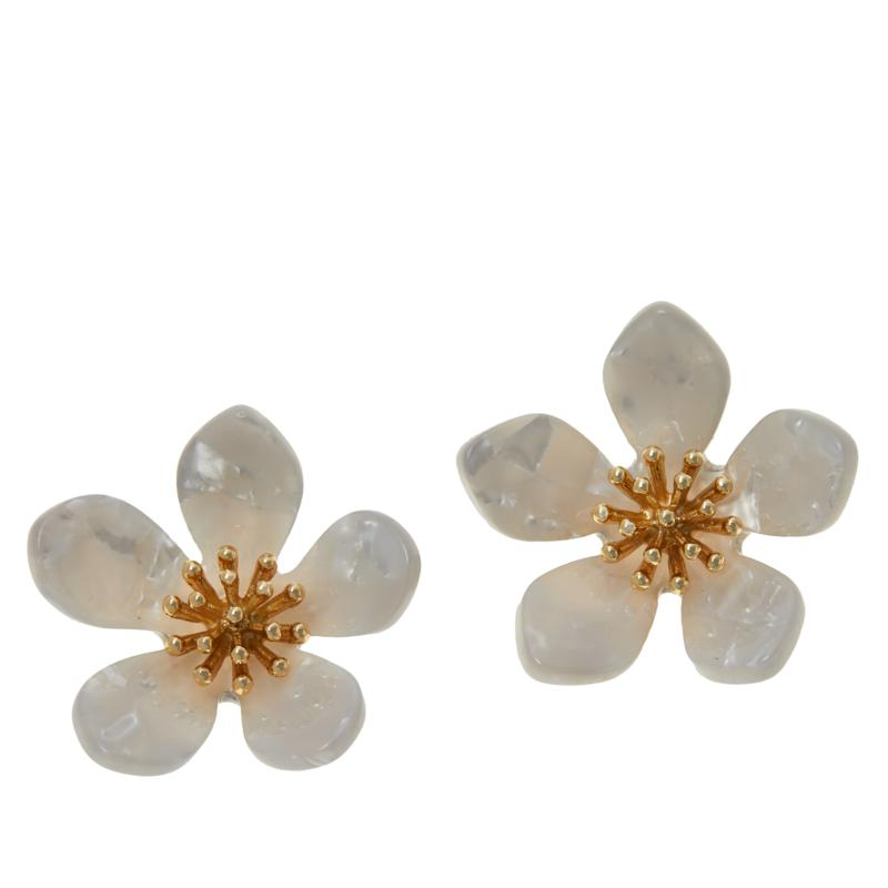 R.J. Graziano Resin Flower Stud Earrings
