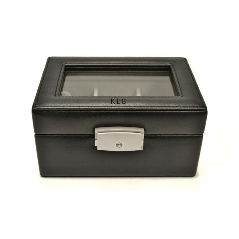 Royce Leather Personalizable 3 Slot Watch Box