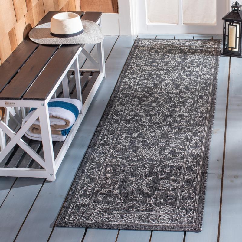 """Safavieh Courtyard Owen 2'-3"""" X 8' Indoor/Outdoor Rug"""