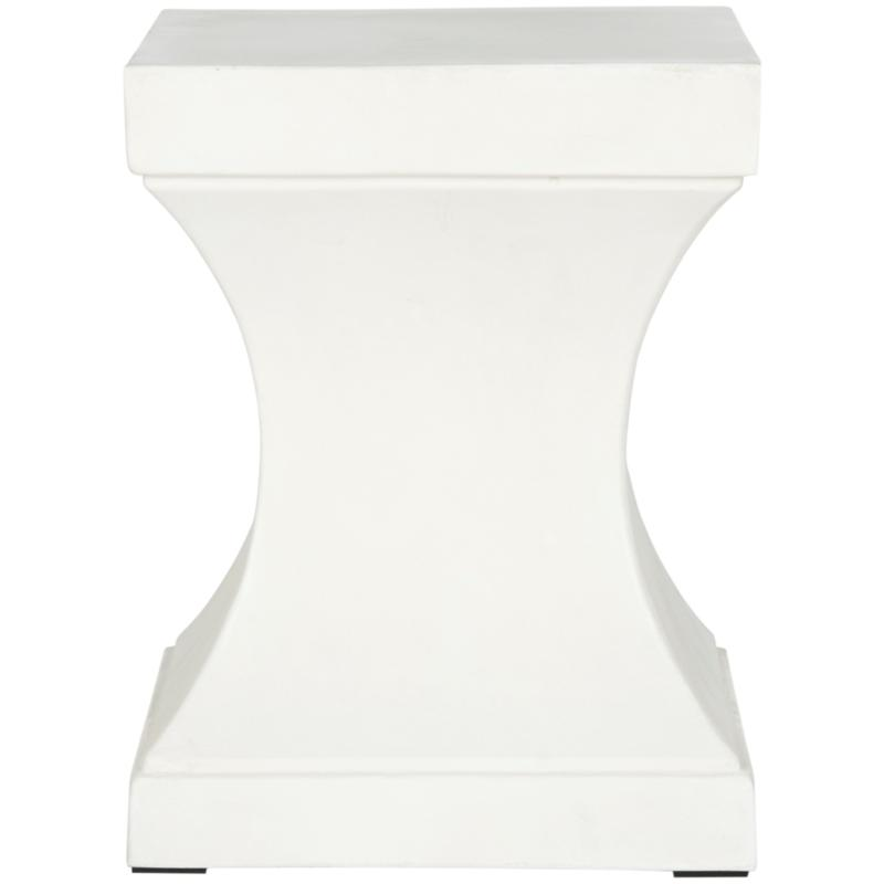 Safavieh Curby Concrete Accent Table - Ivory