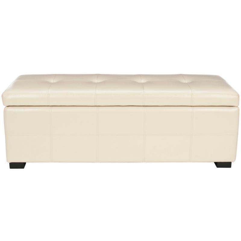 Safavieh Maiden Tufted Large Storage Bench - Flat Cream