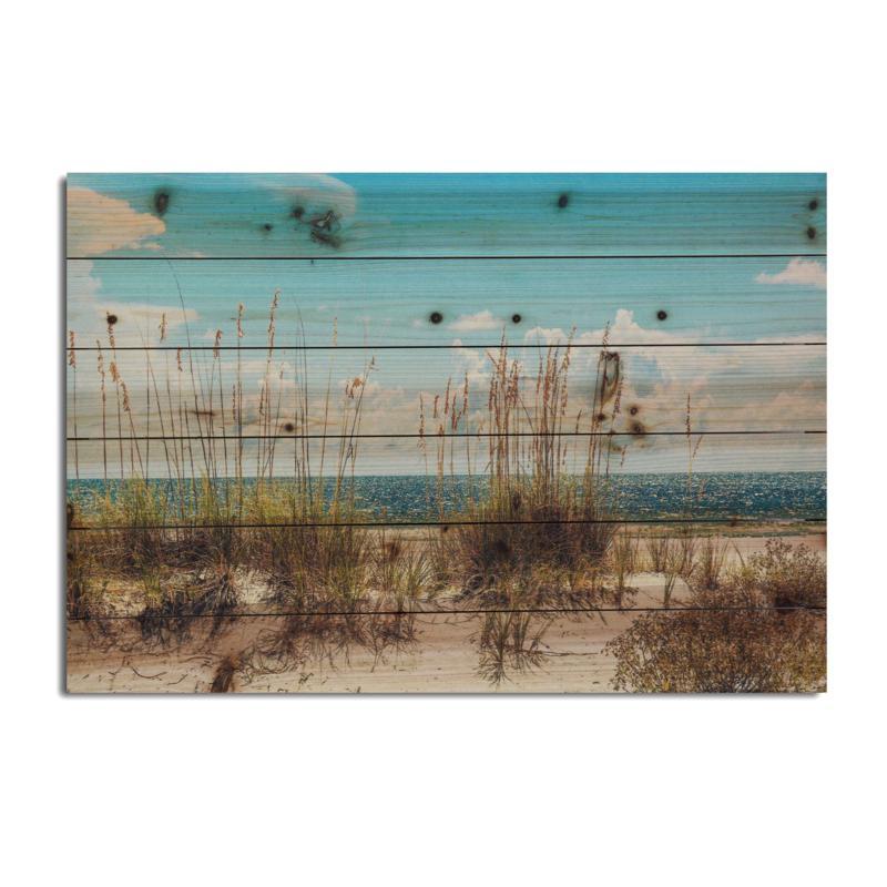 """Sand Dunes 18"""" x 26"""" Print on Wood"""