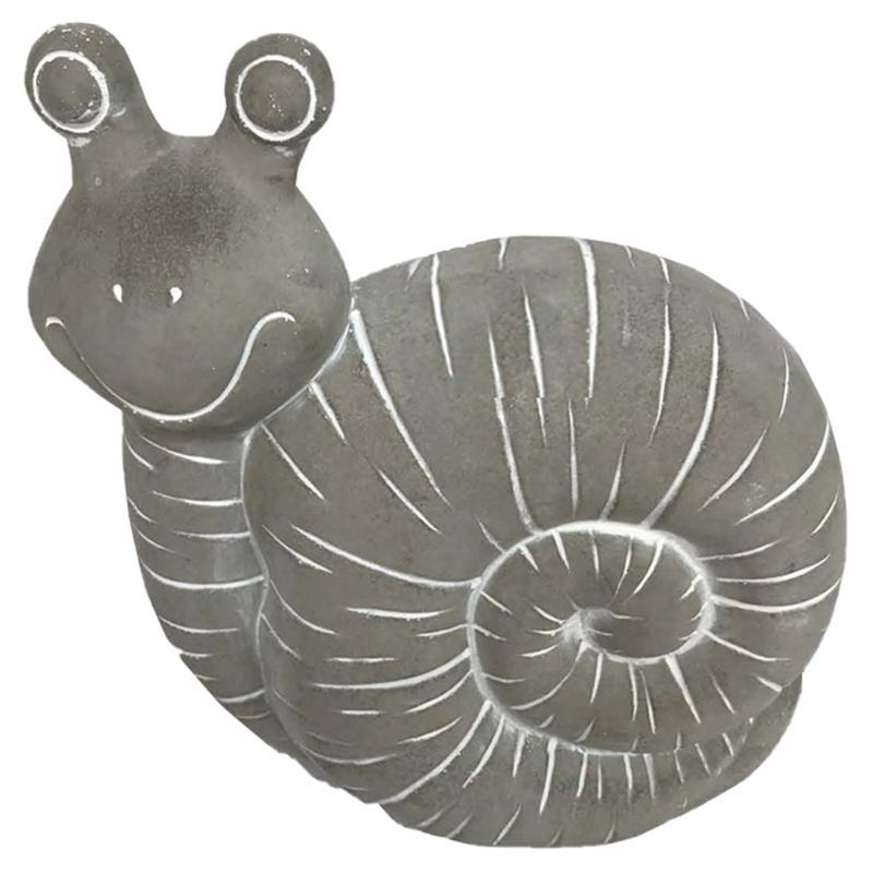 Santa's Workshop Cement Snail Figurine