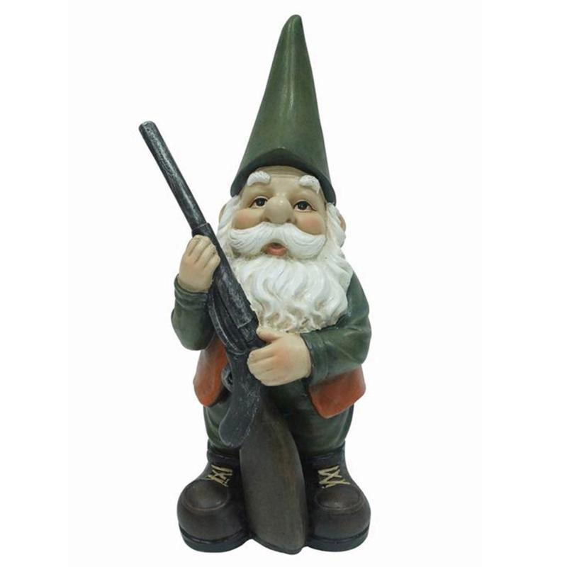 Santa's Workshop Hunting Gnome Statue