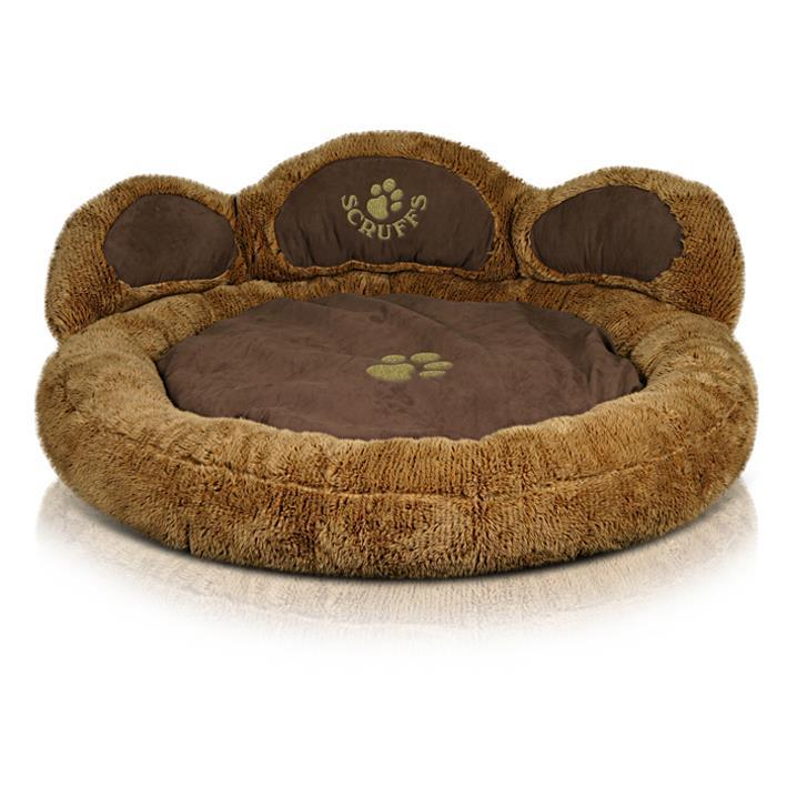 Scruffs Grizzly Bear Dog Bed - Brown
