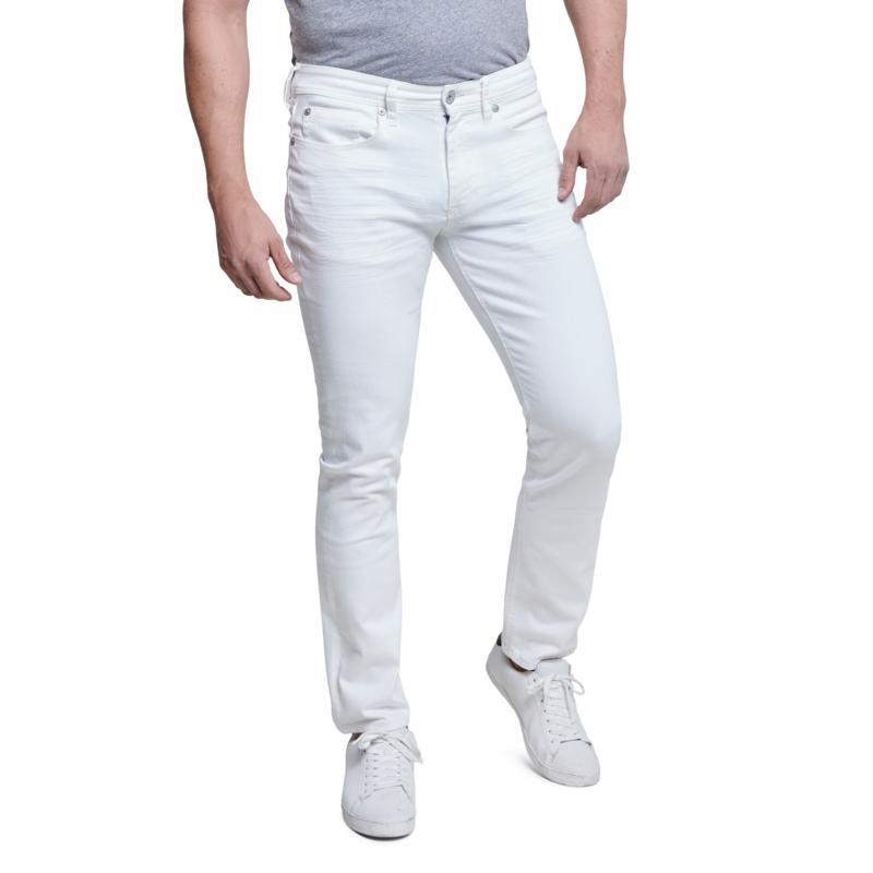 Seven7 Slim Men's Straight Jean - White