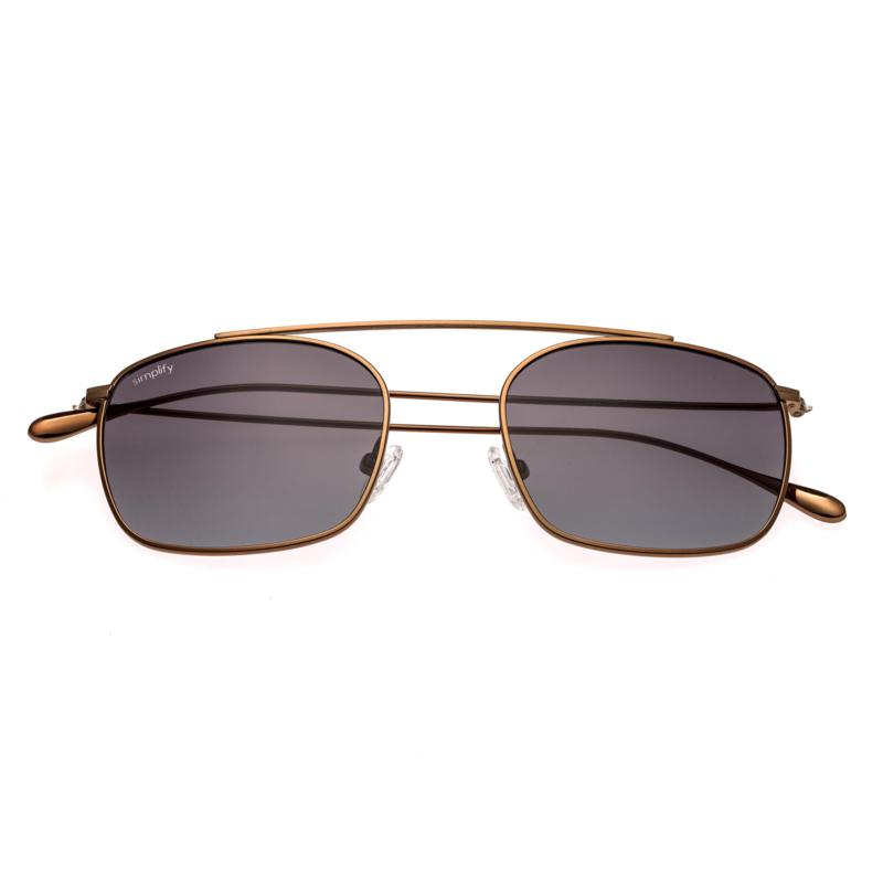 Simplify Collins Polarized Sunglasses with Bronze Frames