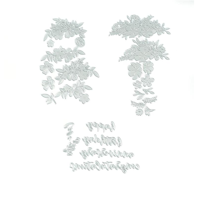 Sizzix® Thinlits Wild Blossoms Botanical Dies and Sentiments