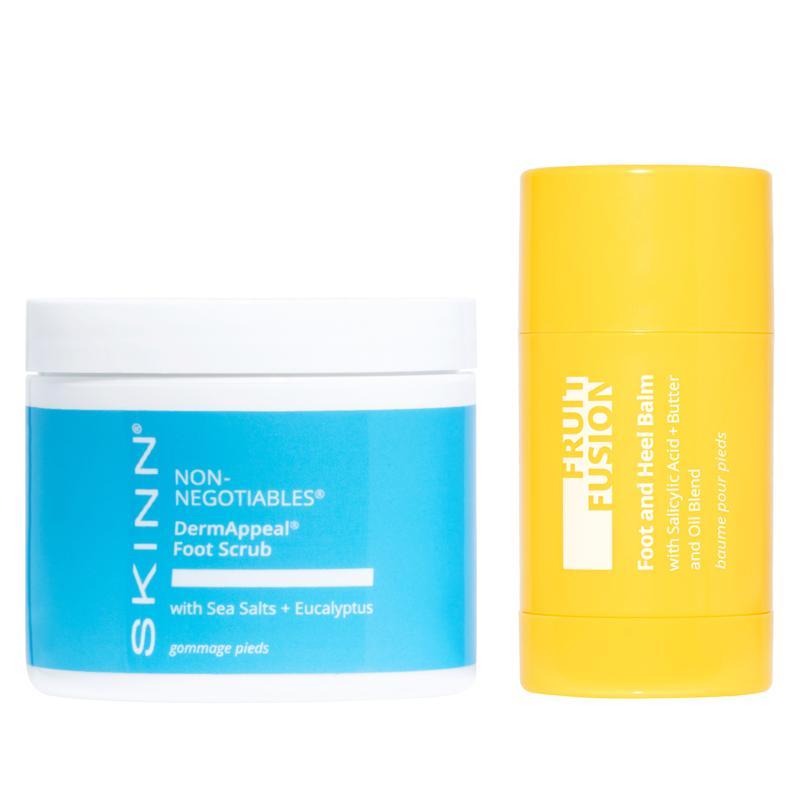 Skinn Cosmetics DermAppeal Foot Scrub and Fruit Fusion Heel Balm